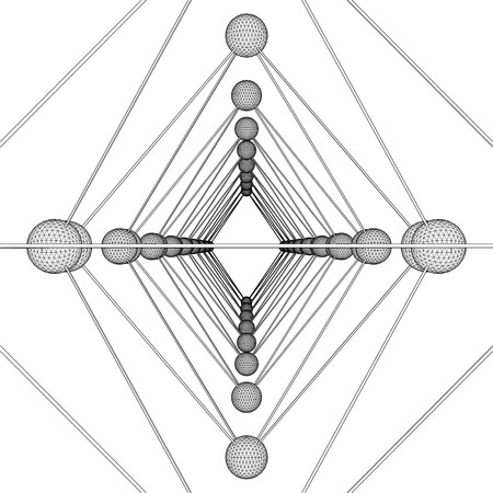 tetraedro: Ottaedro DNA Molecule Structure Vector
