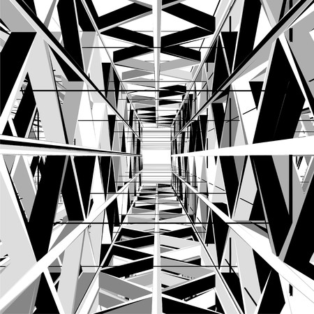 light at the end of the tunnel: Abstract Construction Structure Exit Vector. Light At The End Of Black White and Gray Tunnel Structure Exit. Illustration