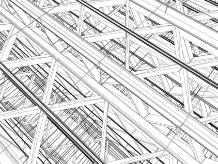 construction projects: Abstract Construction Structure Vector