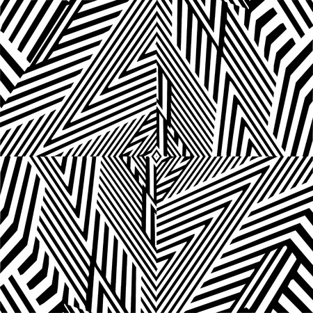 endless repeat structure: Black And White Pattern Vector