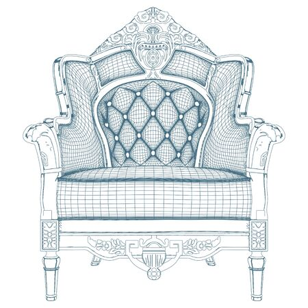 baroque room: Antique Armchair Vector