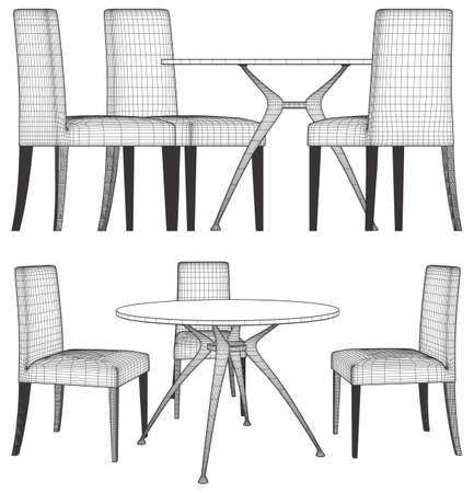 beautiful homes: Set Table And Chairs