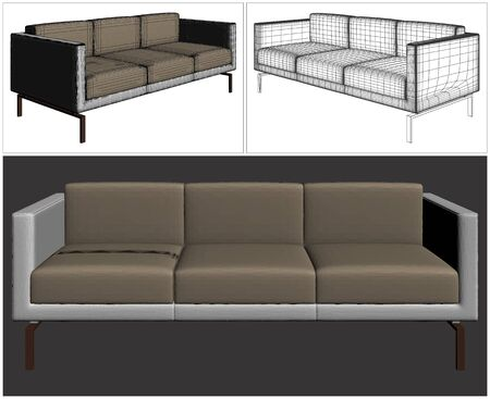 single seat: Sofa Vector