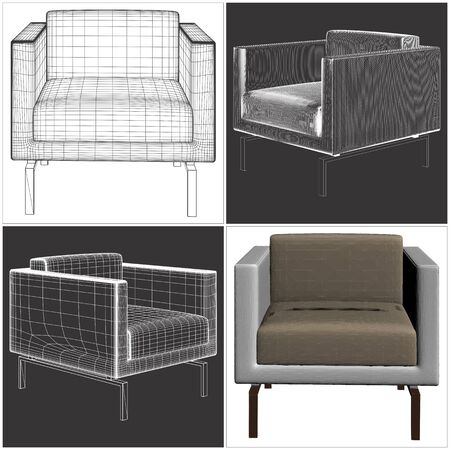 to furnish: Armchair Vector