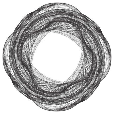 wires: Geometric Twisted Organic Wire Frame Shape Vector