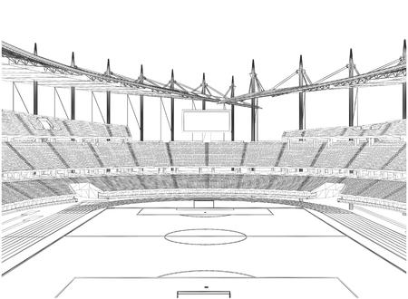 soccer stadium: Football Soccer Stadium Vector