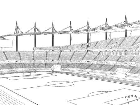football stadium: Football Soccer Stadium Vector