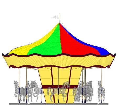 Merry-Go-Round Horse Carousel Illustration