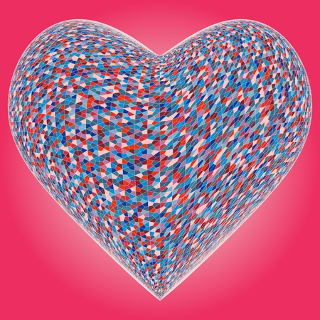 colorful heart: Colorful Heart Vector