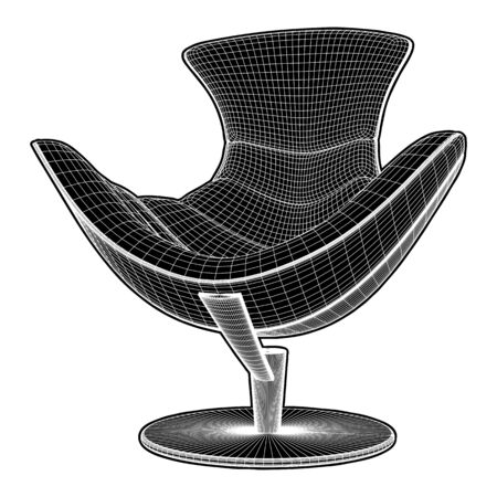 modern: Modern Armchair Vector Illustration