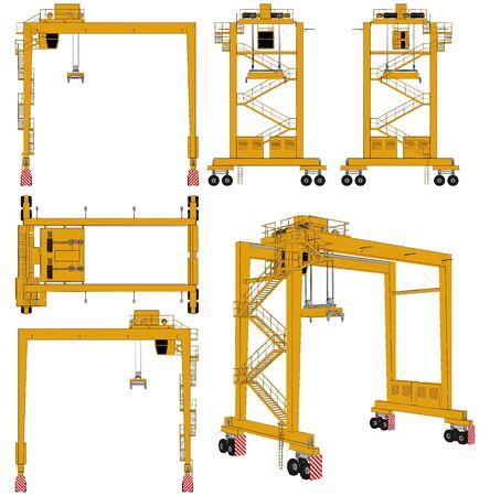 Overhead Crane Vector.