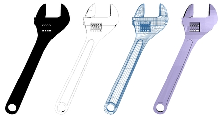adjustable: Adjustable Wrench Vector