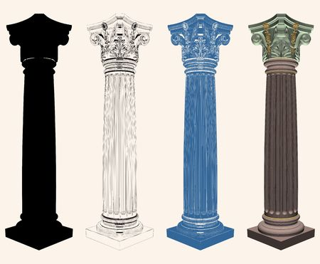 Ancient Corinthian Column Vector