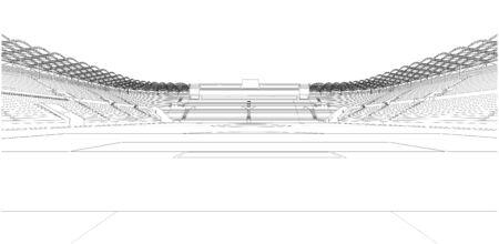 soccer goal: Football Soccer Stadium Vector