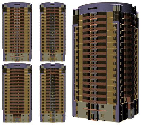 Modern Skyscraper Building Vector