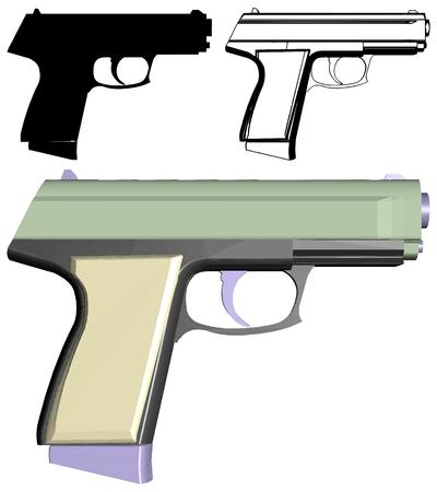 Automatic Handgun Pistol Vector