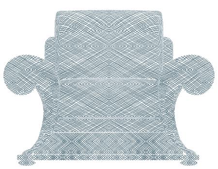 Modern Armchair Vector Illustration