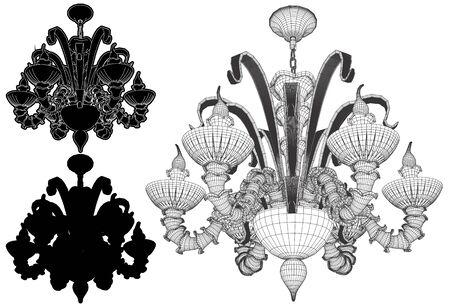 Set Luster Chandelier illustration.