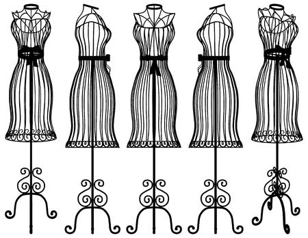 Mannequin Kleiderbügel Vektor Vektorgrafik