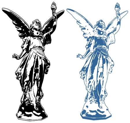 Angel Lucy Sculpture Vector