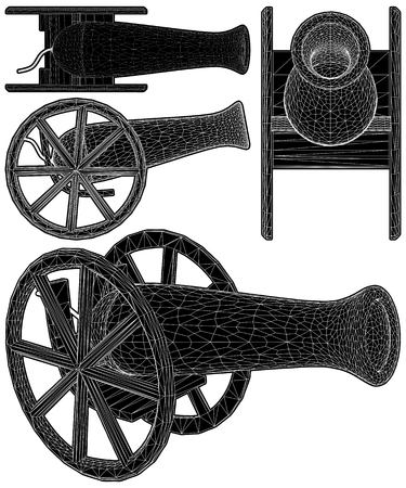 Ancient Cannon Vector