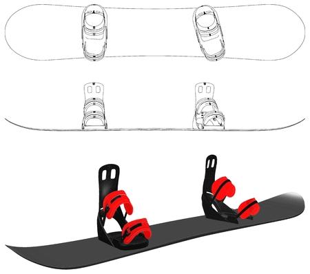 Vecteur de snowboard Banque d'images - 93046600
