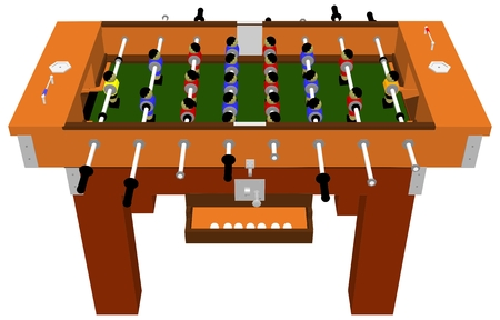Football And Soccer Table Board Game Vector Isolated On White Background Illustration