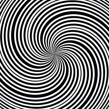 Vecteur de formes de rayures noires et blanches hypnotiques Vecteurs