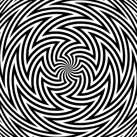 Hypnotic Black And White Stripe Shapes Vector Stock Vector - 100411043