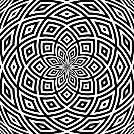 Hypnotic Black And White Stripe Shapes Vector Stock Vector - 100411044