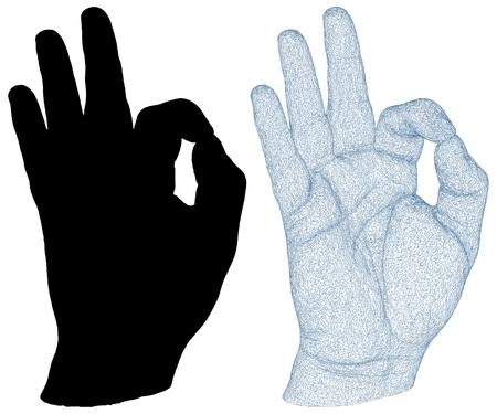 OK Hand Sign icon