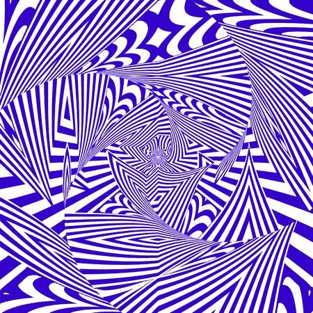 Hypnotic Stripe Shapes Vector