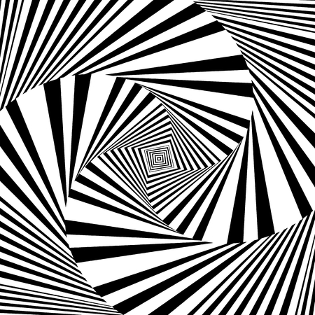 Hypnotic Black And White Stripe Shapes Vector