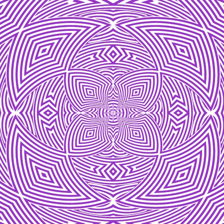 Hypnotic Flower Stripe Shapes Vector Illustration