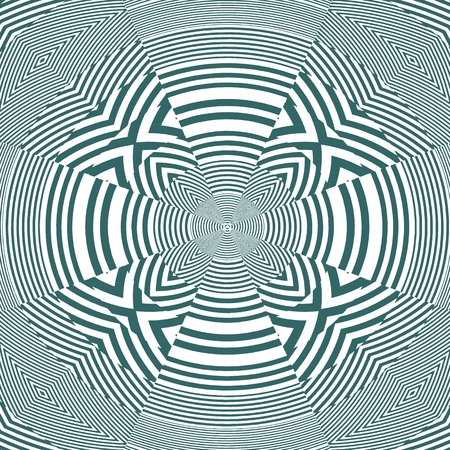 Hypnotic Cross Stripe Shapes Vector