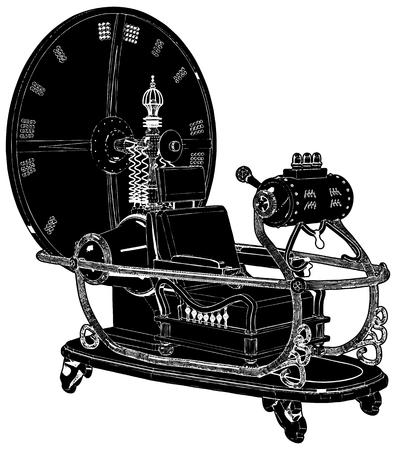 Time Machine Isolato Su Sfondo Bianco Vettoriali