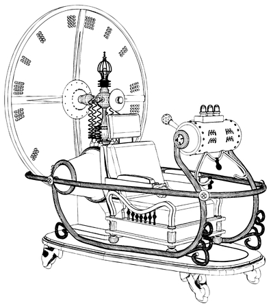 Time Machine Isolated On White Background