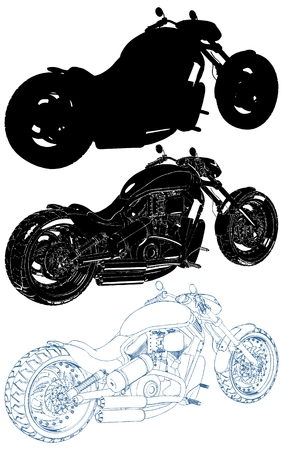 Motorcycle Isolated Illustration On White Background Vector