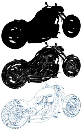 Motorrad isolierte Illustration auf weißem Hintergrund-Vektor