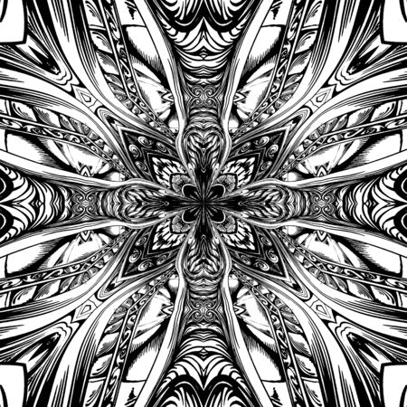 Abstract Cross Kaleidoscope Isolated On White Background Vector Stock Vector - 128125692