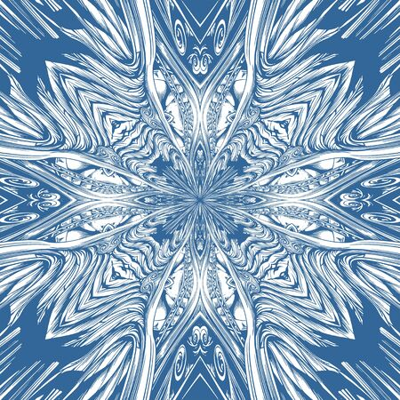 Abstract Cross Kaleidoscope Isolated On White Background Vector Stock Vector - 128125694