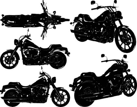 Retro Old Style Motorcycle Vector. Illustration Isolated On White Background. A vector illustration Of A Motorcycle. Illusztráció