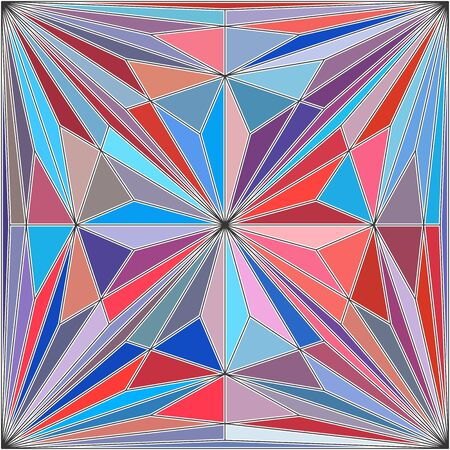 Geometric Colorful Pattern Background Vector 180. Mosaic hipster background made of triangles and quadrates. Retro label design. Square composition with geometric shapes. Hipster theme label. 矢量图像