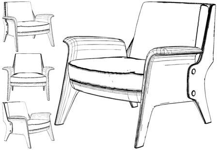 Armchair Vector. Illustration Isolated On White Background. A Vector Illustration Of Armchair.