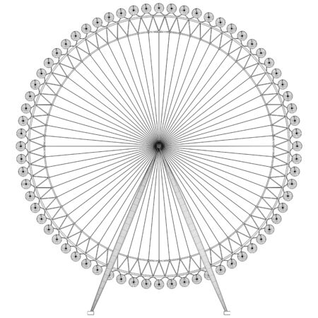 Carousel Vector. Vector Illustration Of Carousel Isolated On White Background.