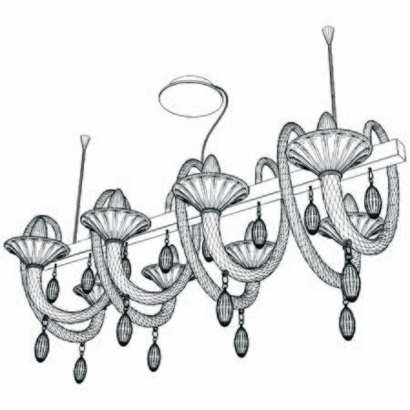 Luster Chandelier Vector. Illustration Isolated On White Background. A Vector Illustration Of Retro Antique Classic Luster Chandelier.