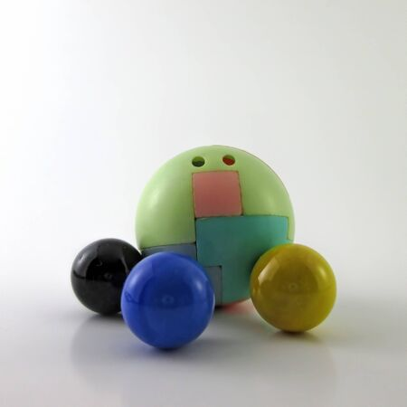 Three Marble Balls With A Toy Ball For Assembling