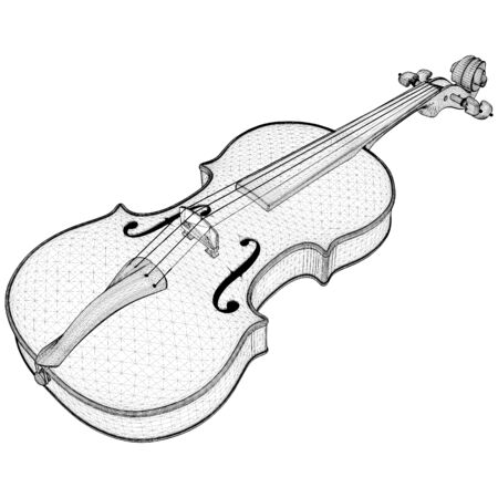 Violin Vector. Illustration Isolated On White Background. A Vector Illustration Of Classical Violin Background 矢量图像