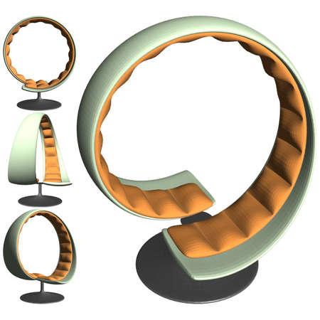 Modern Chair Vector. Illustration Isolated On White Background. A Vector Illustration Of Chair Background. 矢量图像