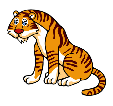 bengals: Vector illustration in cartoon style isolated on white. Tiger.